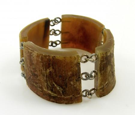 Bracelet, horn, silver