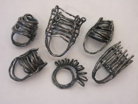 Rings in black silver